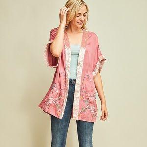 Kimono - Beautiful pink embroidered kimono!